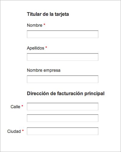 """Formulario web de Expedia donde estaban utilizando un campo """"Nombre empresa"""" que estaba empeorando la usabilidad y la conversión de la página."""