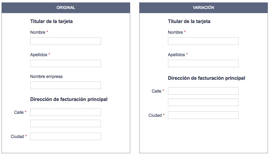 Formulario web donde Expedia optimizó los campos y obtuvo por ello un beneficio de 12 millones de $ al año.