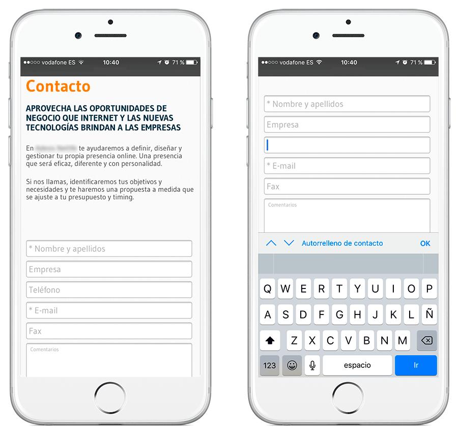 Ejemplo de mala usabilidad y ux cuando no se piensa en el usuario cuando tiene que rellenar un campo numérico a través de dispositivos móviles