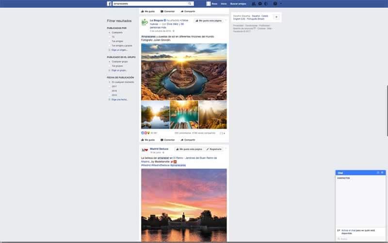 Scroll infinito de Facebook